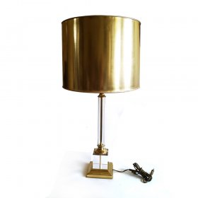 lucite-and-brass-table-lamp